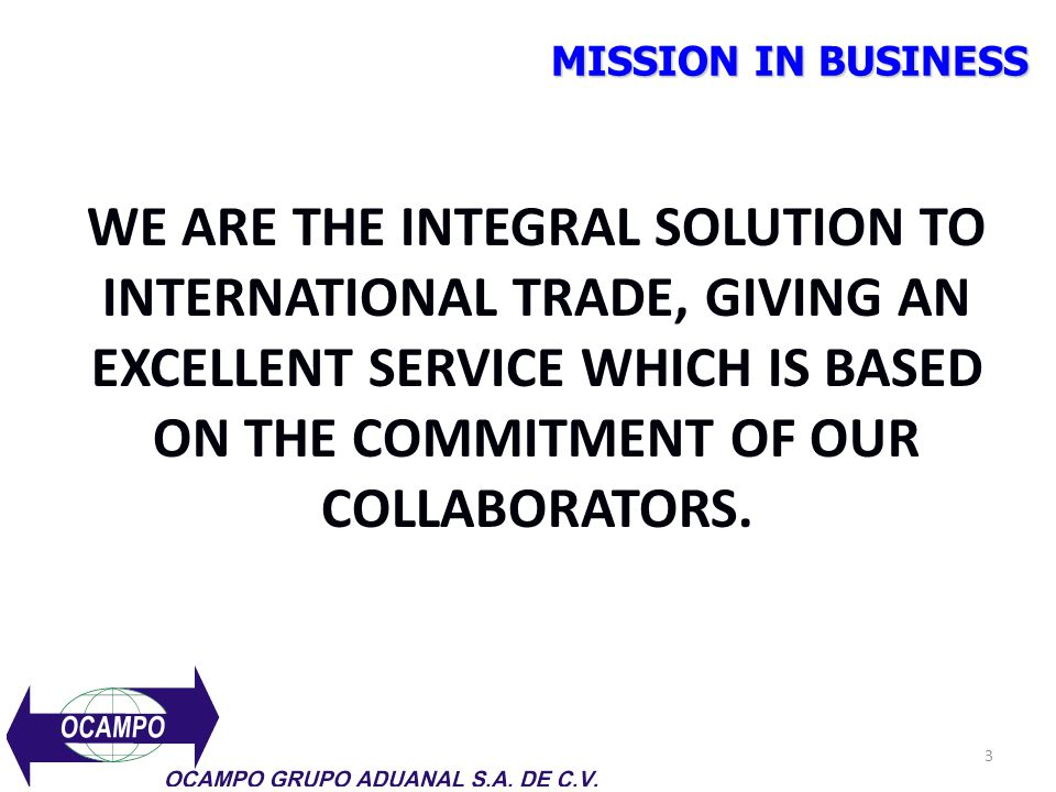 MISSION IN BUSINESS