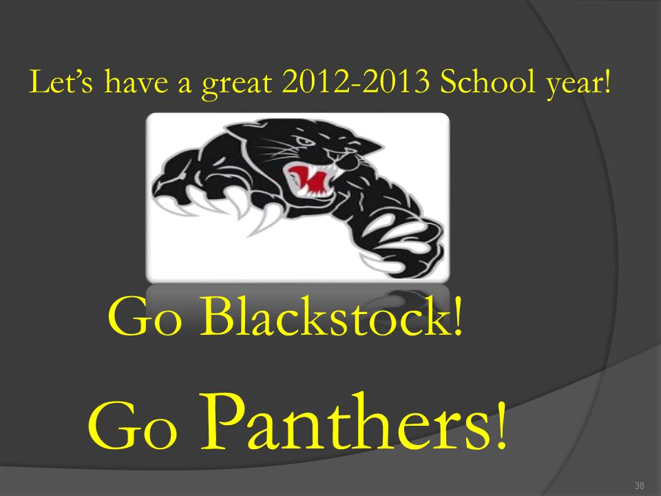 Let's have a great 2012-2013 School year!
