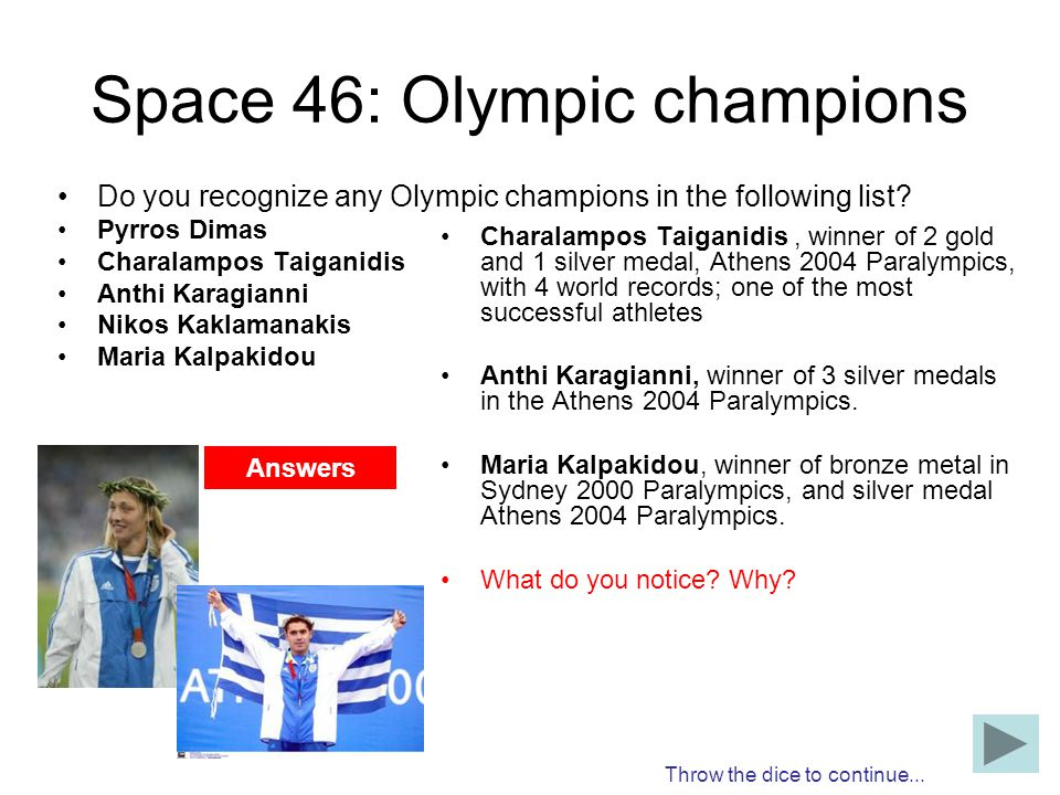 Space 46: Olympic champions