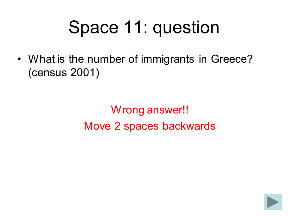 Space 11: question What is the number of immigrants in Greece.