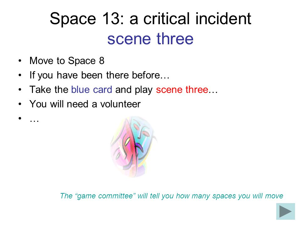 Space 13: a critical incident scene three