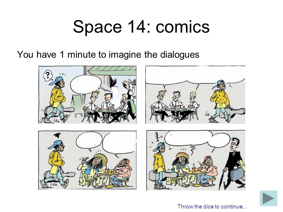 Space 14: comics You have 1 minute to imagine the dialogues