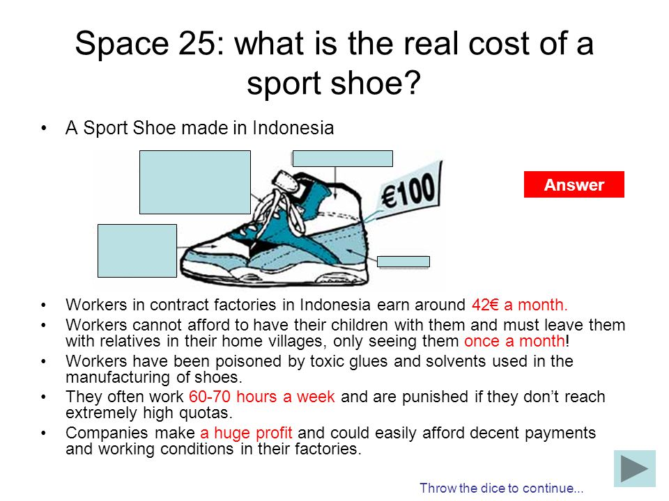 Space 25: what is the real cost of a sport shoe