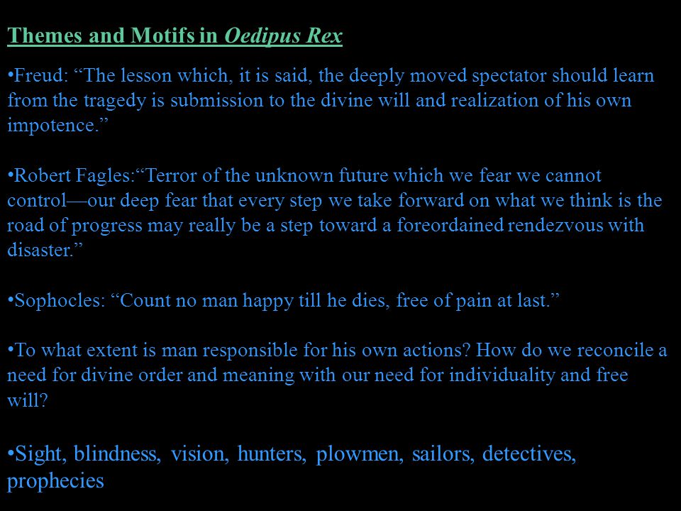 Themes and Motifs in Oedipus Rex