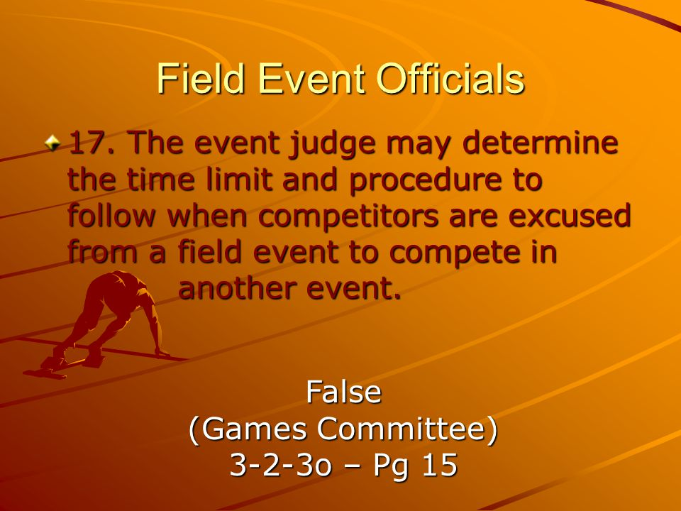 Field Event Officials
