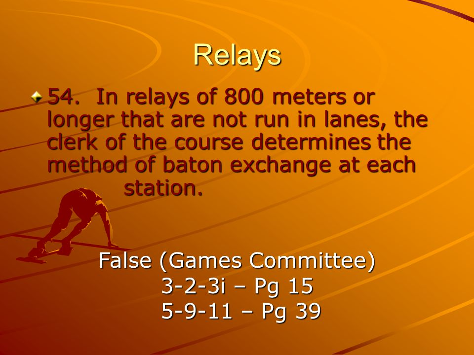 False (Games Committee)