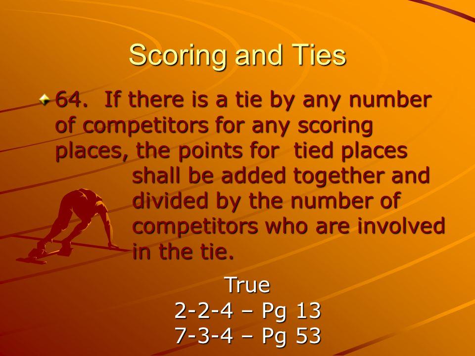 Scoring and Ties