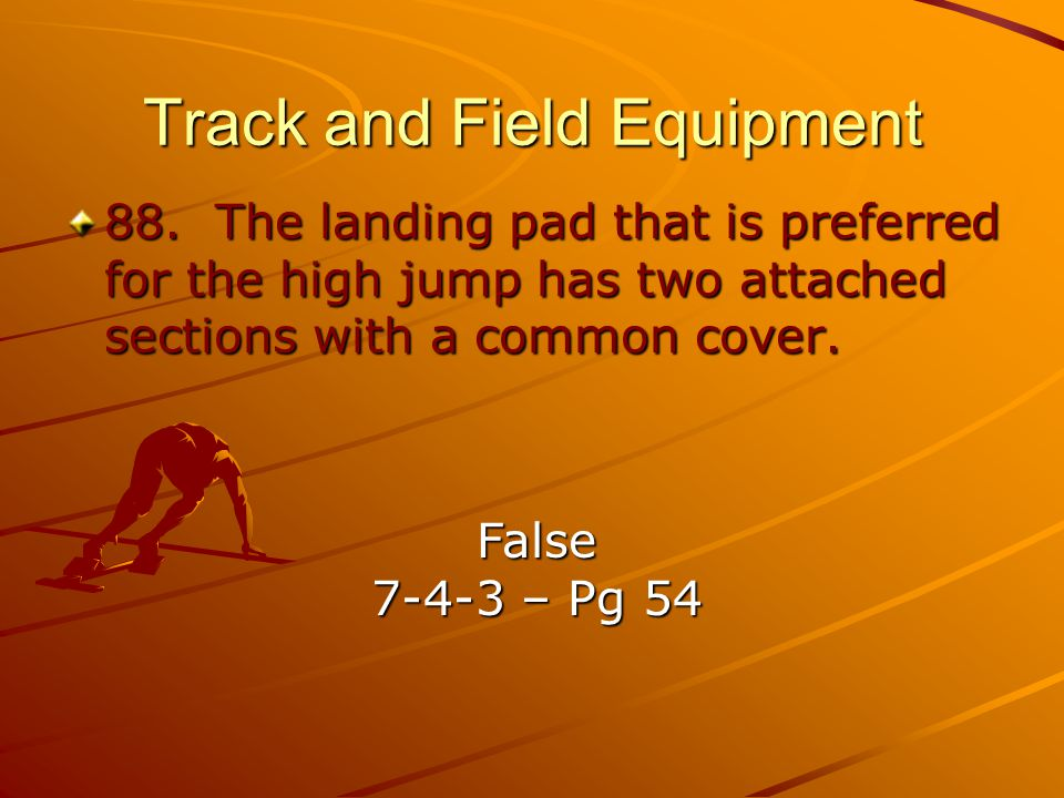 Track and Field Equipment