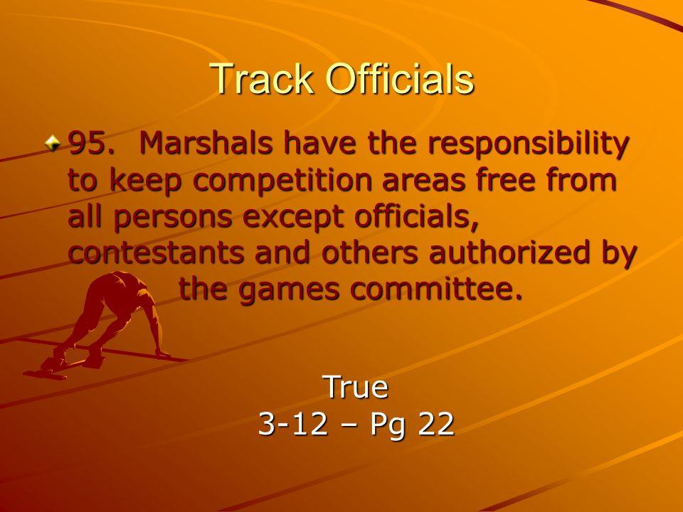 Track Officials