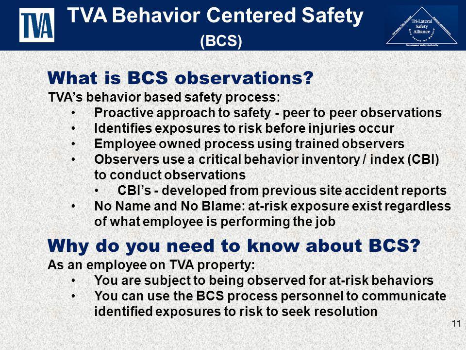 TVA Behavior Centered Safety