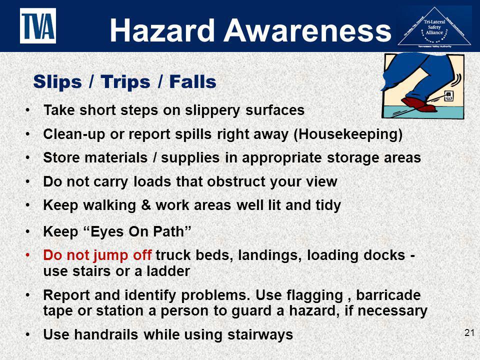 Hazard Awareness Slips / Trips / Falls