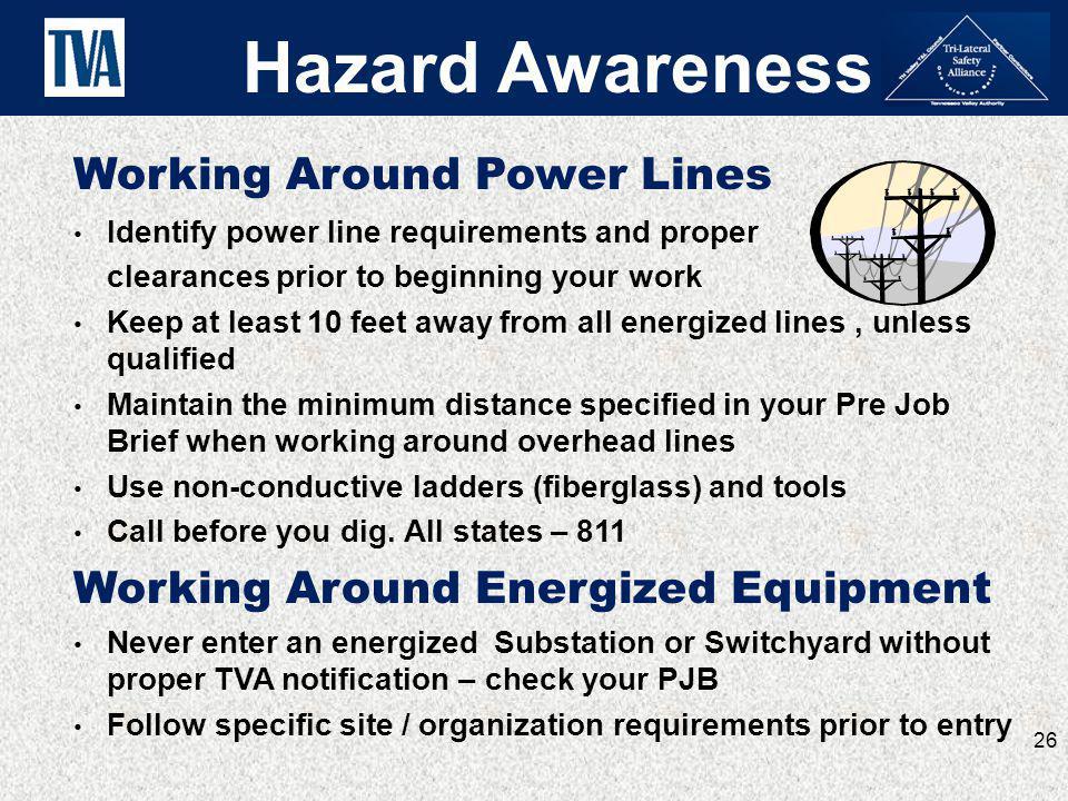 Hazard Awareness Working Around Power Lines