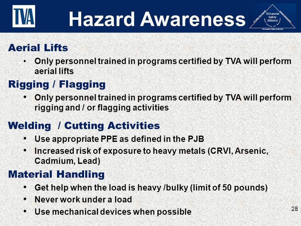 Hazard Awareness Aerial Lifts Rigging / Flagging