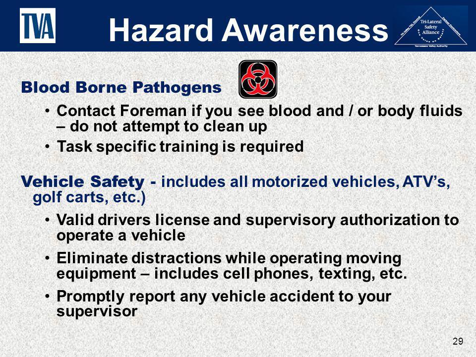 Hazard Awareness Blood Borne Pathogens