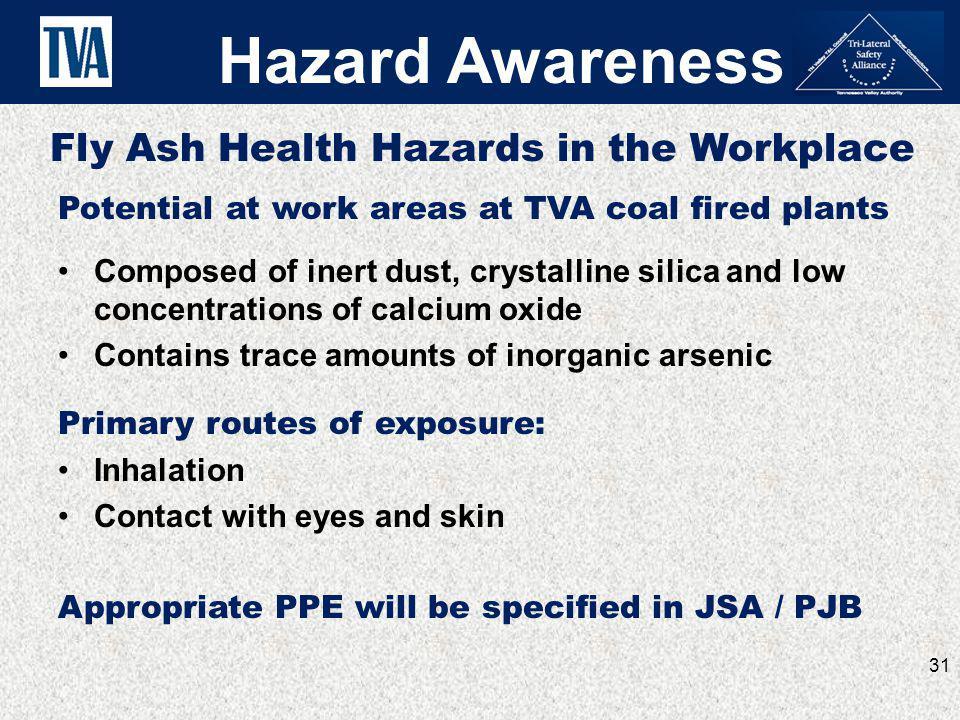 Hazard Awareness Fly Ash Health Hazards in the Workplace
