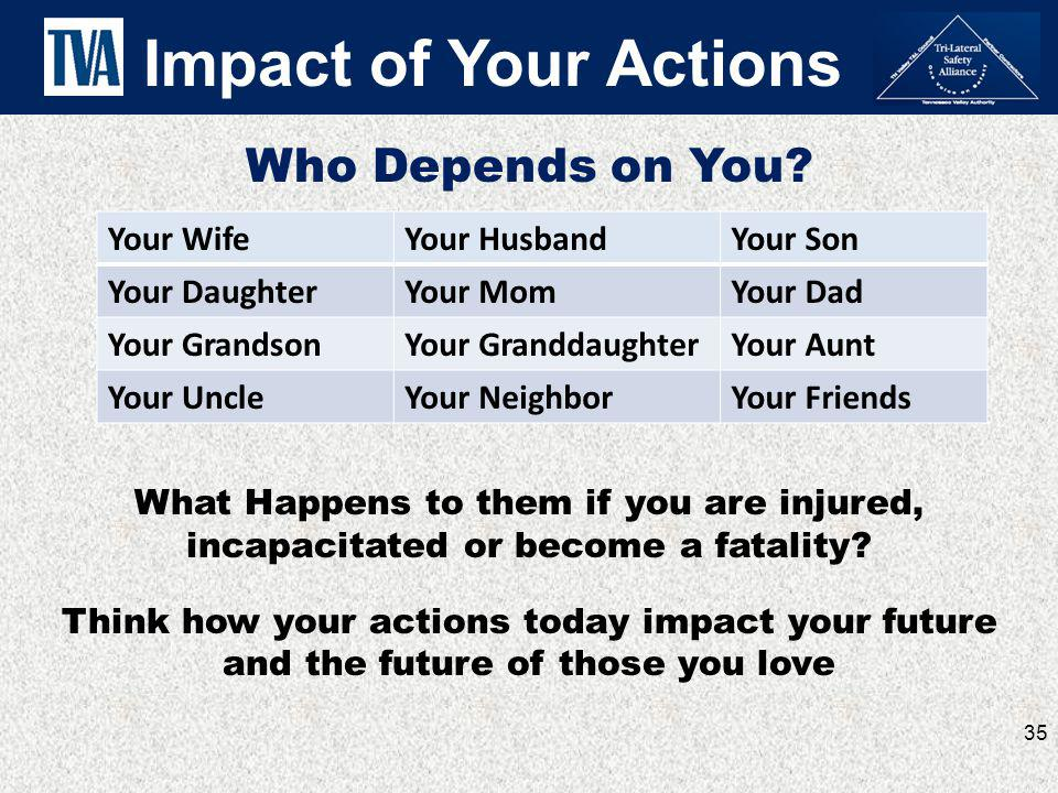 Impact of Your Actions Who Depends on You