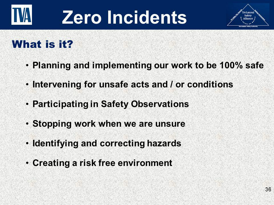 Zero Incidents What is it