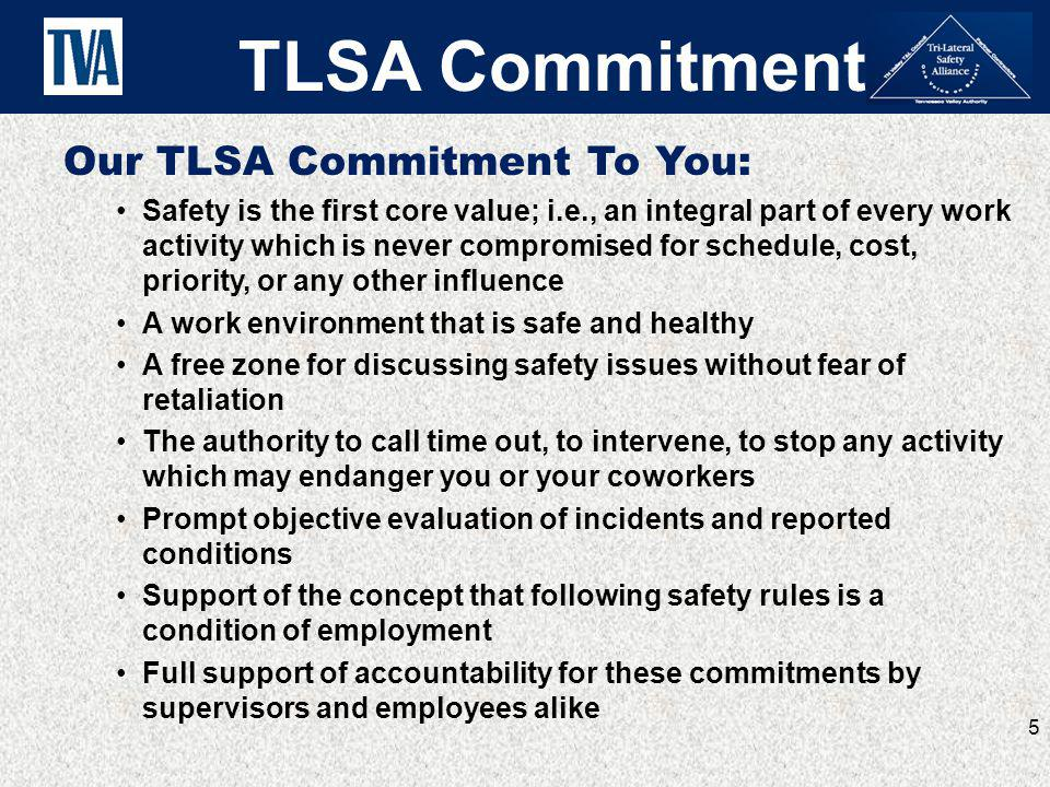 TLSA Commitment Our TLSA Commitment To You: