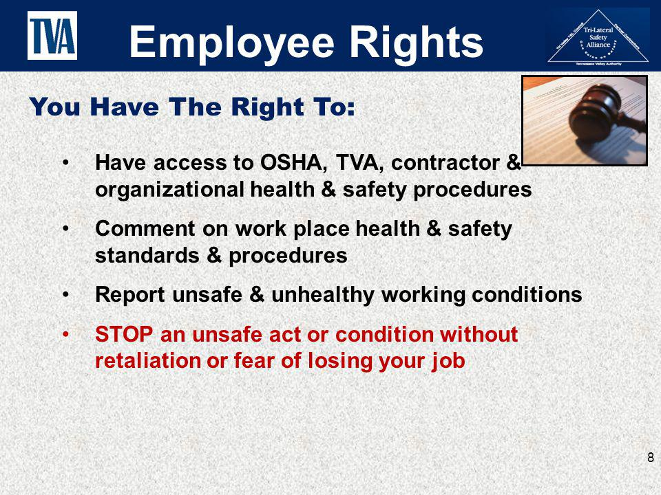 Employee Rights You Have The Right To: