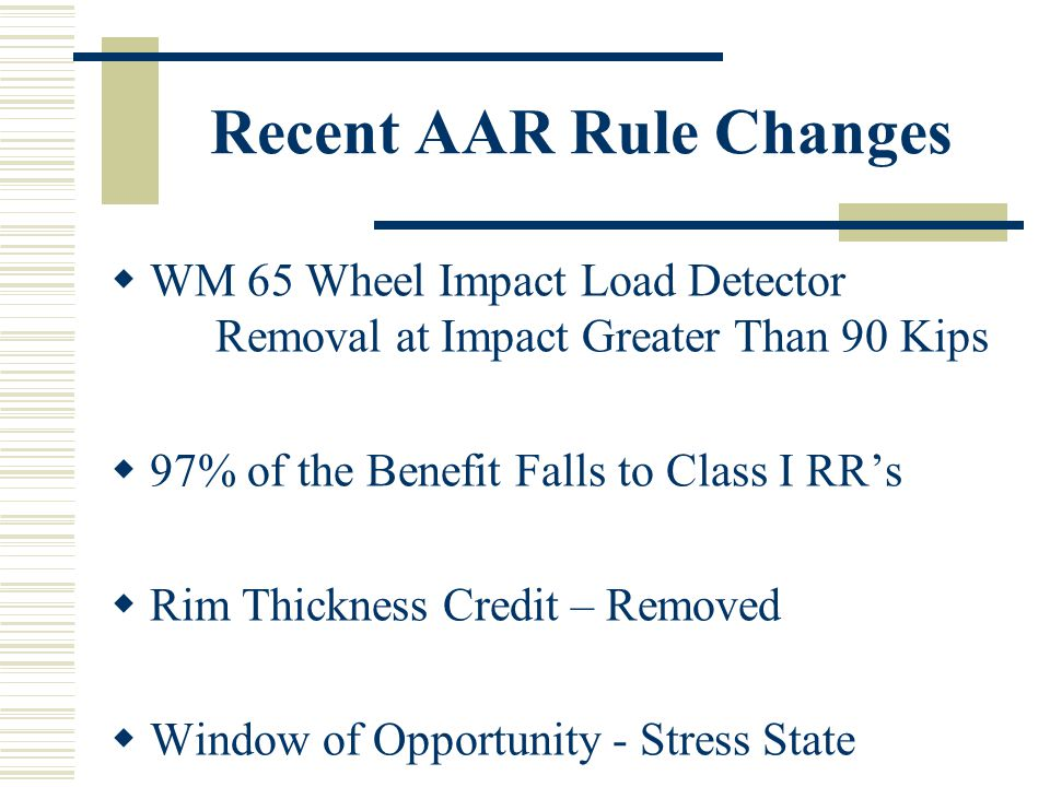 Recent AAR Rule Changes