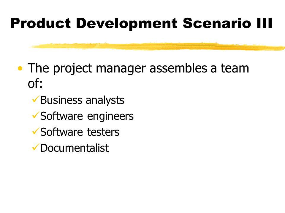 Product Development Scenario III