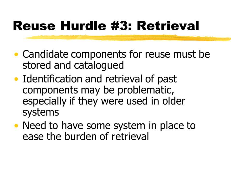 Reuse Hurdle #3: Retrieval