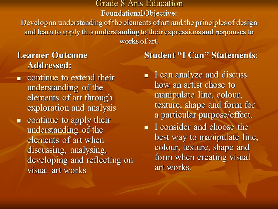 Learner Outcome Addressed:
