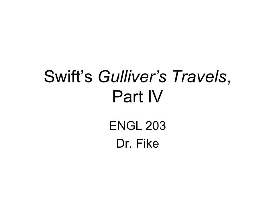 Swift's Gulliver's Travels, Part IV