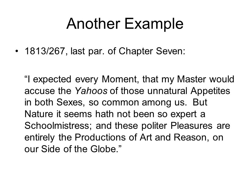 Another Example 1813/267, last par. of Chapter Seven: