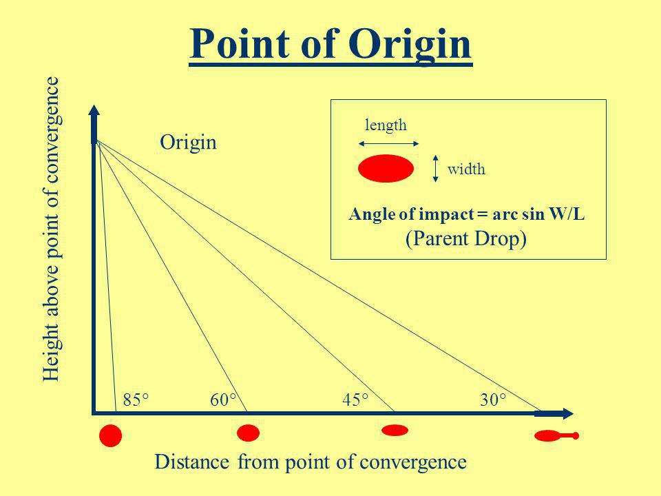 Point of Origin Origin Height above point of convergence (Parent Drop)
