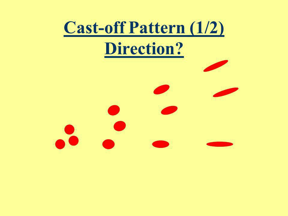 Cast-off Pattern (1/2) Direction
