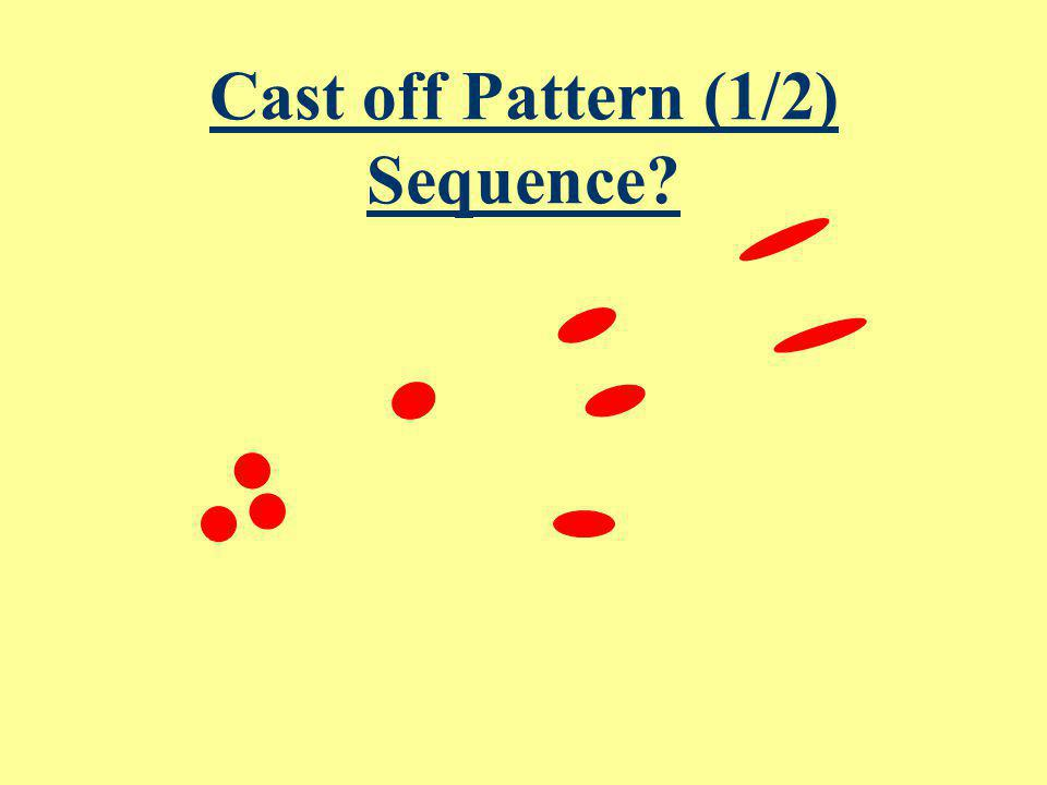 Cast off Pattern (1/2) Sequence