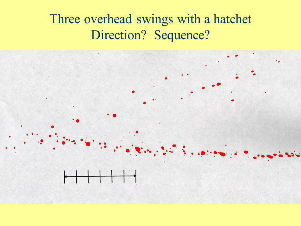 Three overhead swings with a hatchet Direction Sequence