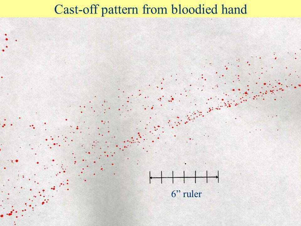 Cast-off pattern from bloodied hand