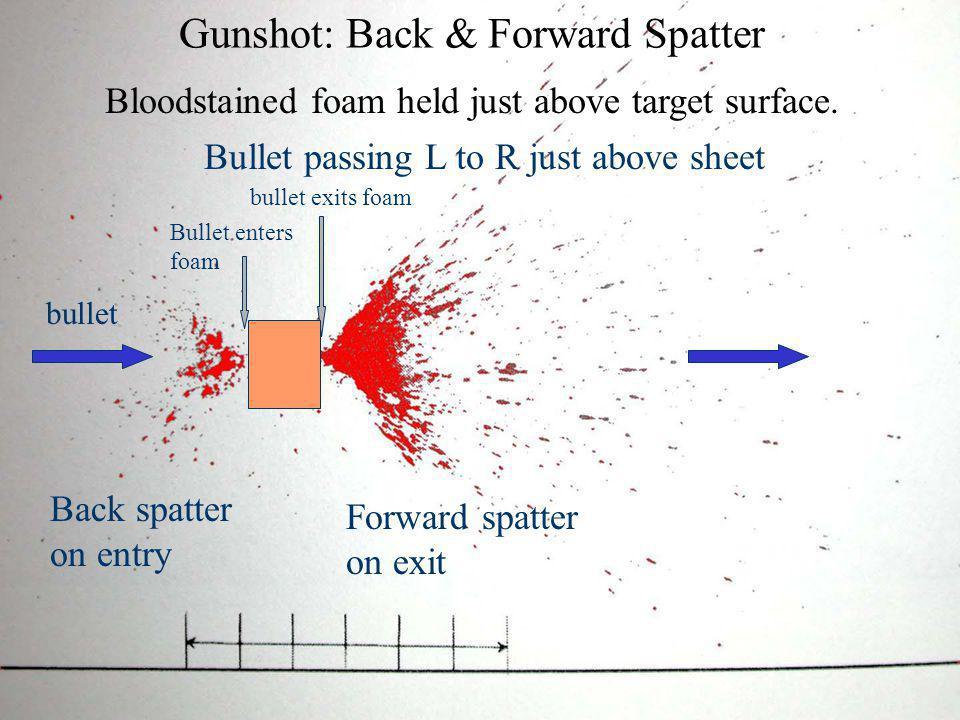 Gunshot: Back & Forward Spatter