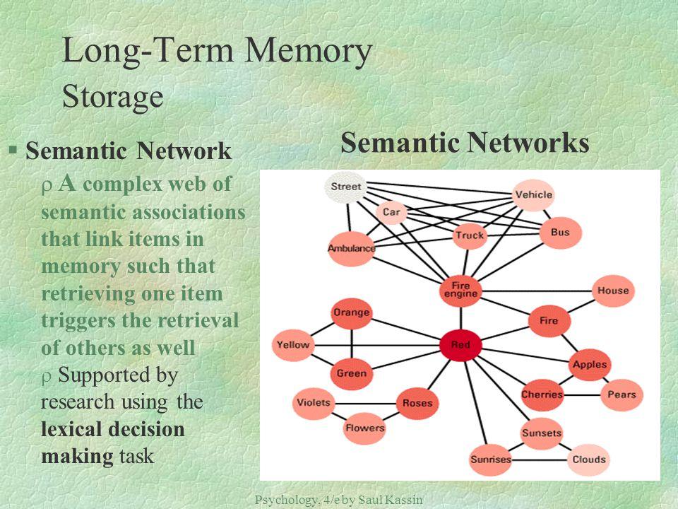 Long-Term Memory Storage Semantic Networks
