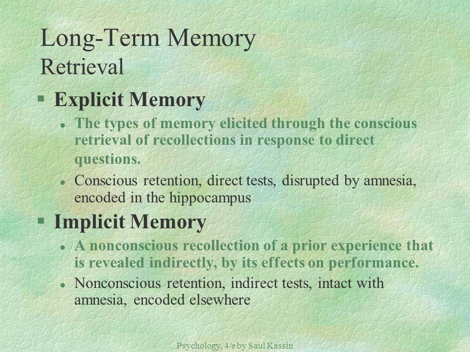 Long-Term Memory Retrieval