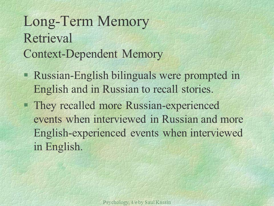 Long-Term Memory Retrieval Context-Dependent Memory