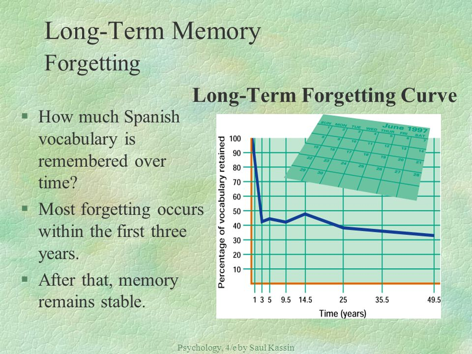 Long-Term Memory Forgetting Long-Term Forgetting Curve