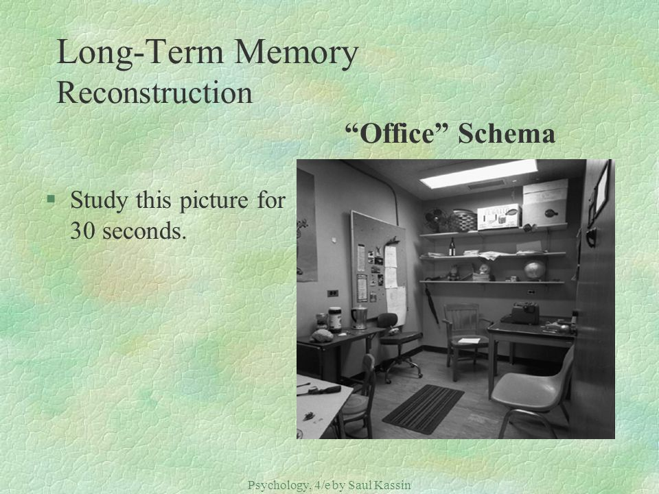 Long-Term Memory Reconstruction Office Schema