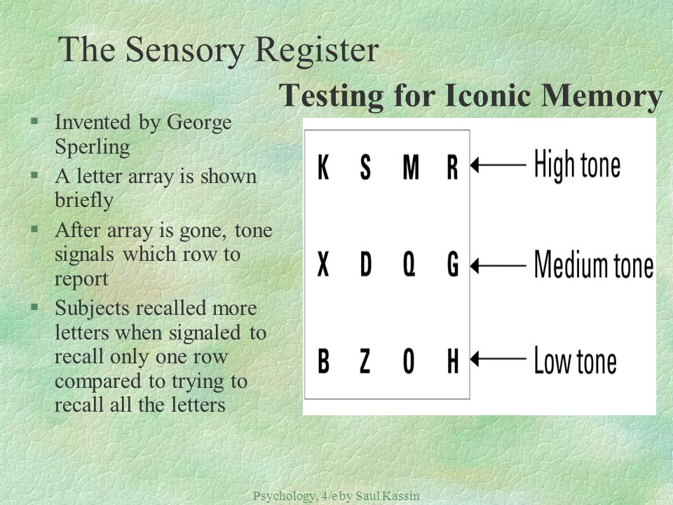 Memory Psychology, 4/e by Saul Kassin CHAPTER 6: Memory ...