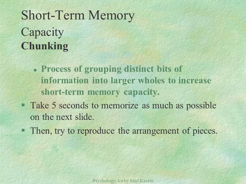Short-Term Memory Capacity Chunking