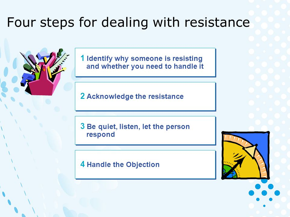 Four steps for dealing with resistance