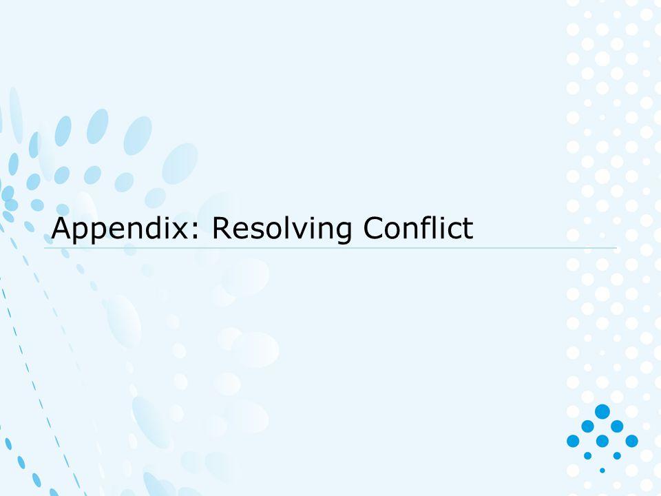 Appendix: Resolving Conflict