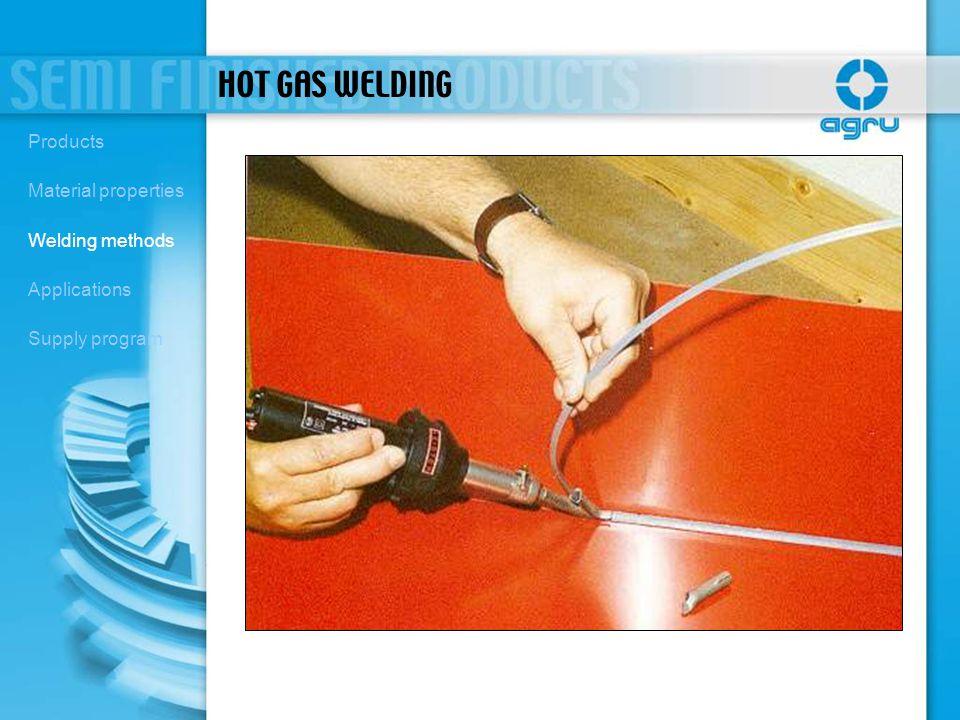 HOT GAS WELDING Products Material properties Welding methods