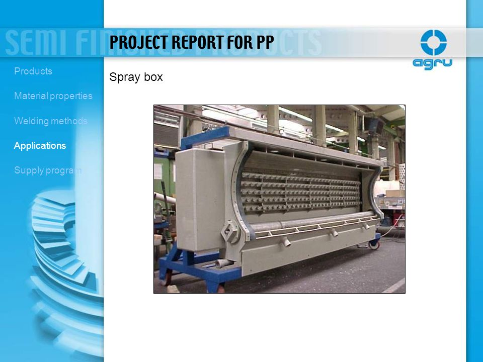 PROJECT REPORT FOR PP Spray box Products Material properties