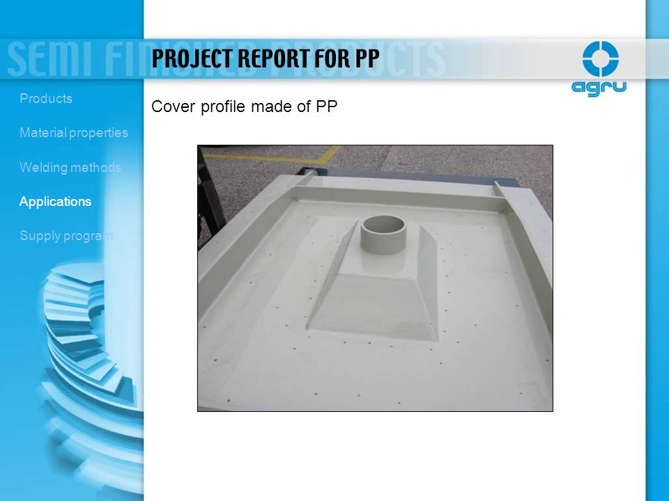 PROJECT REPORT FOR PP Cover profile made of PP Products