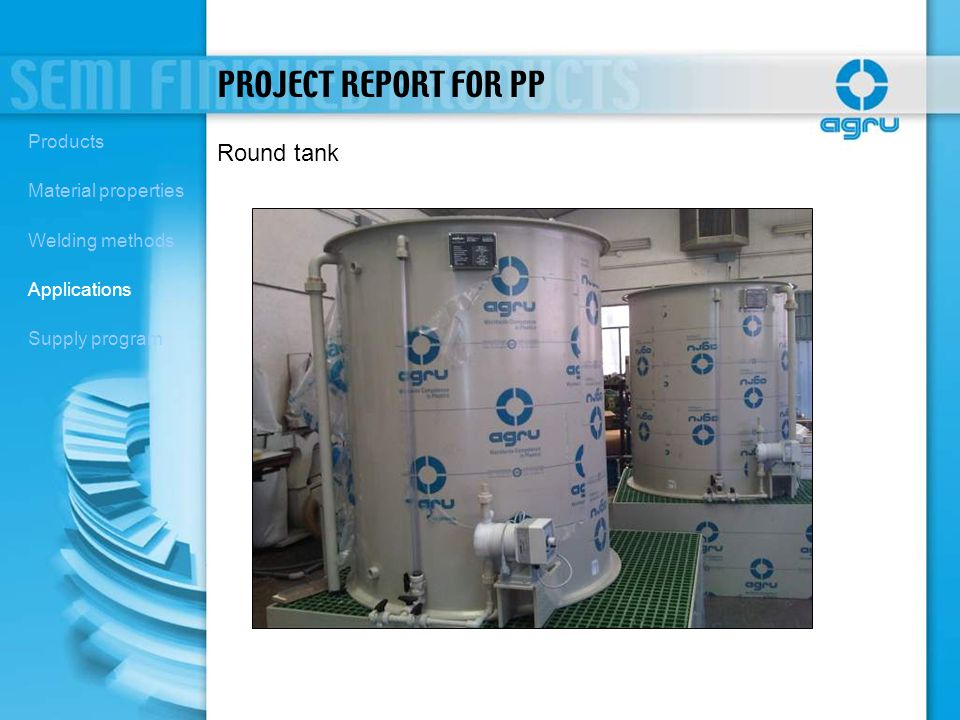 PROJECT REPORT FOR PP Round tank Products Material properties