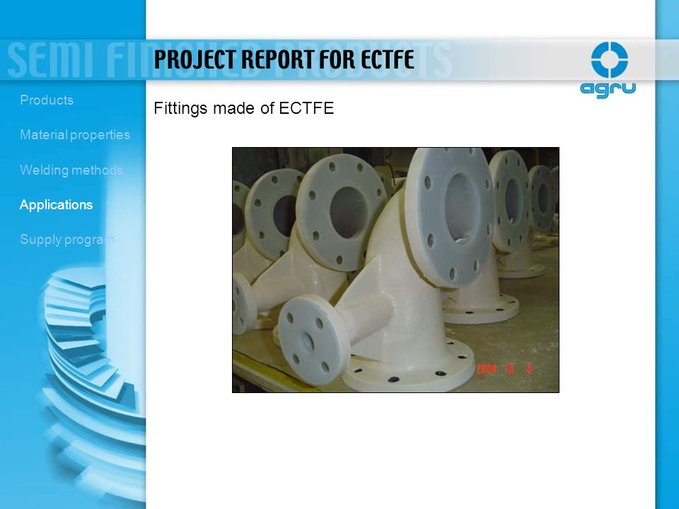 PROJECT REPORT FOR ECTFE
