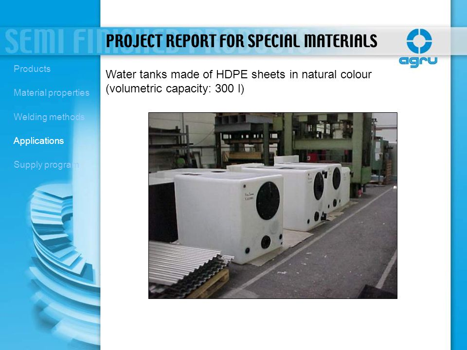 PROJECT REPORT FOR SPECIAL MATERIALS